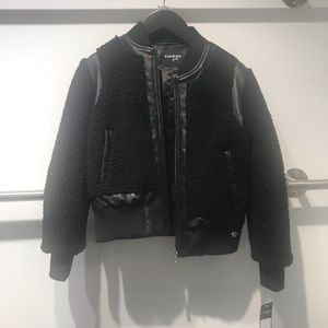 Bebe Leather Jacket with Fur